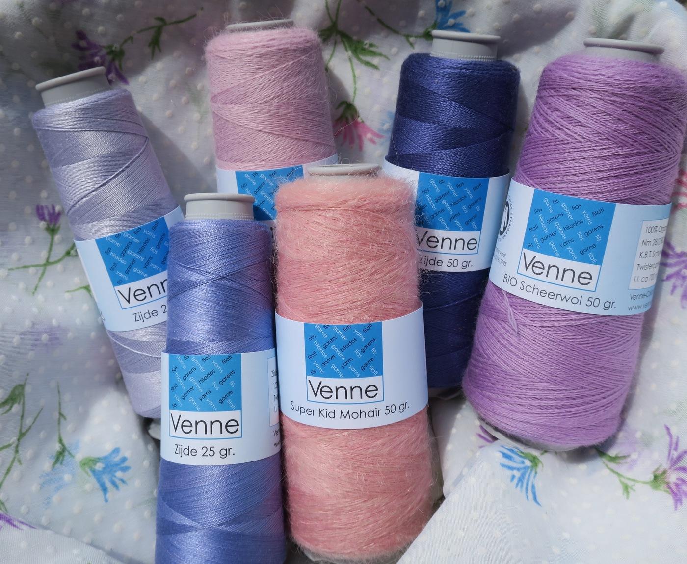 Cones laine soie rose mauve2